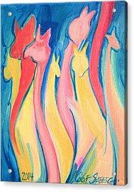 Alpaca Flames Acrylic Print