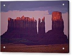 Alpen Glow On Monument Valley  C6j4475 Acrylic Print