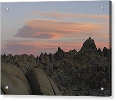 Alpenglow And Boulders Acrylic Print