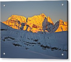 Alpenglow In Canada Acrylic Print