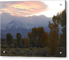 Alpenglow Over Mt Tom Acrylic Print by Don Kreuter
