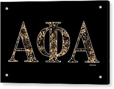 Alpha Phi Alpha - Black Acrylic Print by Stephen Younts
