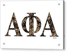 Alpha Phi Alpha - White Acrylic Print by Stephen Younts
