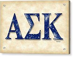 Alpha Sigma Kappa - Parchment Acrylic Print by Stephen Younts