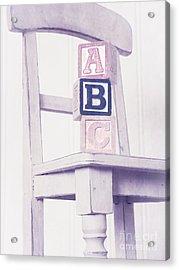 Alphabet Blocks Chair Acrylic Print by Edward Fielding