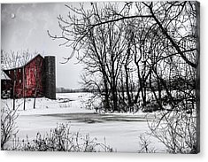 Alpine Barn Michigan Acrylic Print by Evie Carrier