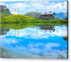 Alpine Blue Acrylic Print by Andreas Thust