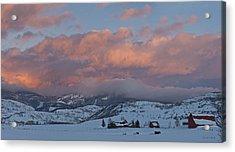 Alpine Glow Over Elk Mountain Meadows Acrylic Print