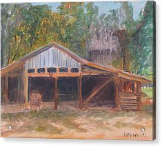 Alpine Groves Fruit Packing Shed Acrylic Print