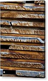 Alpine Lumber Acrylic Print by Frank Tschakert