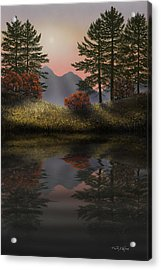 Alpine View Reflections Acrylic Print