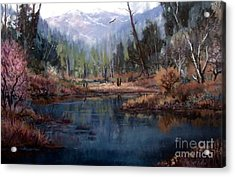 Alpine Wonder Acrylic Print by W  Scott Fenton