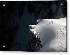 Alpinists Acrylic Print by Tristan Shu