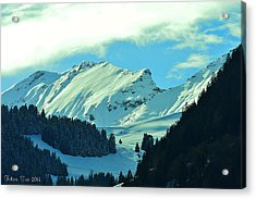 Alps Green Profile Acrylic Print