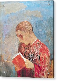 Alsace Or Monk Reading Acrylic Print by Odilon Redon