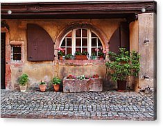 Alsatian Home In Kaysersberg France Acrylic Print by Greg Matchick