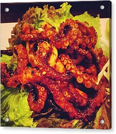 Also #grilled #octopus. #fuck #yum Acrylic Print