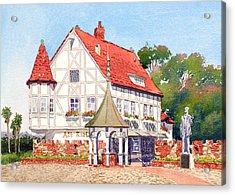 Alt Karlsbad California Acrylic Print by Mary Helmreich