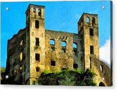 Alta Via Dei Monti Liguri - Liguria Mountains High Way Trek - Hohenweg Der Ligurischen Berge Acrylic Print