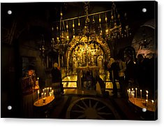 Altar Of The Crucifixion Acrylic Print by David Morefield