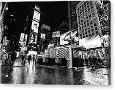 Alternate View Of Times Square  Acrylic Print by John Farnan