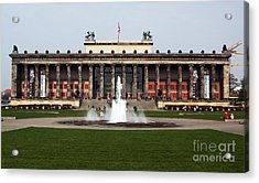 Altes Museum In Berlin Acrylic Print by John Rizzuto