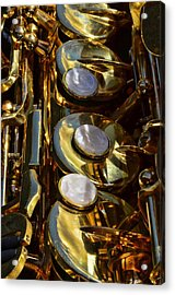 Alto Sax Reflections Acrylic Print by Ken Smith