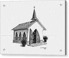 Alto Vista Chapel - Aruba Acrylic Print