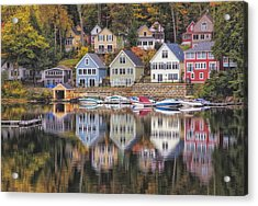 Alton Bay Houses Acrylic Print