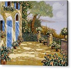 Altre Porte Blu Acrylic Print by Guido Borelli
