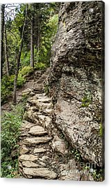 Acrylic Print featuring the photograph Alum Cave Trail by Debbie Green