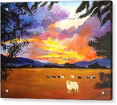 Alvin Counting Sheep Acrylic Print