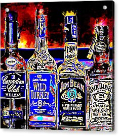 Always Carry A Bottle Of Whiskey In Case Of Snakebite 20140917 V5 Square Acrylic Print by Wingsdomain Art and Photography