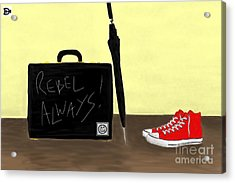 Acrylic Print featuring the digital art Always...rebel.... by Andy Heavens