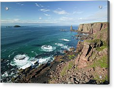 Am Buachaille Sea Stack Acrylic Print by Ashley Cooper