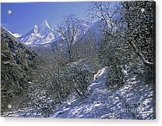 Acrylic Print featuring the photograph Ama Dablam In Winter by Rudi Prott