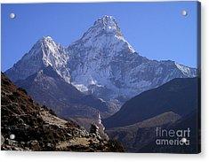 Ama Dablam Nepal Acrylic Print by Jan Wolf