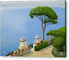 Amalfi Coast From Ravello Acrylic Print by Mike Robles