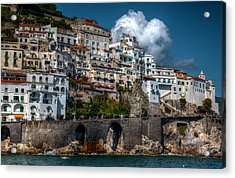 Acrylic Print featuring the photograph Amalfi Coast by Uri Baruch