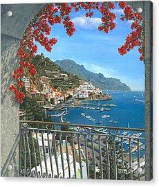 Amalfi Acrylic Print by MGL Meiklejohn Graphics Licensing
