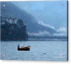 Acrylic Print featuring the photograph Amalfi To Capri. Italy by Jennie Breeze
