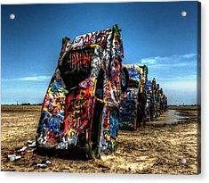 Amarillo - Cadillac Ranch 004 Acrylic Print