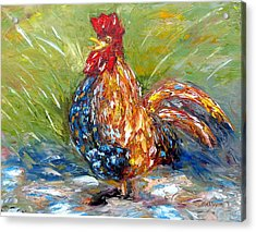 Amazed Rooster Acrylic Print