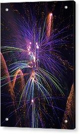 Amazing Beautiful Fireworks Acrylic Print by Garry Gay
