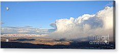 Amazing Cloud Swallows Red Rocks Of Sedona Arizona Acrylic Print