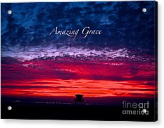 Acrylic Print featuring the photograph Red Sky At Night by Margie Amberge
