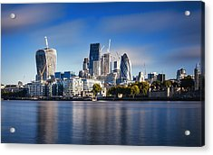Amazing London Skyline With Tower Bridge During Sunrise Acrylic Print by Easyturn