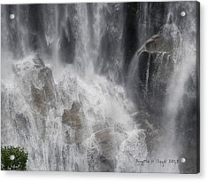 Acrylic Print featuring the digital art Amazing Waterfall by Angelia Hodges Clay