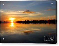 Acrylic Print featuring the photograph Amazon Sunset by Nareeta Martin