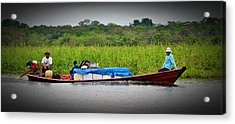 Acrylic Print featuring the photograph Amazon Travel by Henry Kowalski